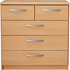 more details on New Hallingford 3+2 Drawer Chest - Beech Effect.