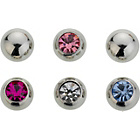 more details on Stainless Steel Spare Body Bar Balls - Set of 6.