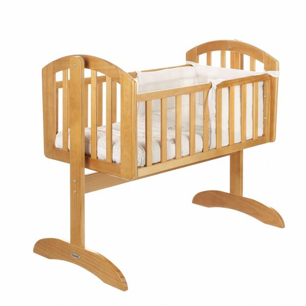 Buy obaby sophie swinging crib mattress and white set for Baby cot decoration gallery