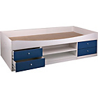more details on Malibu Cabin Bed Frame - Blue on White.