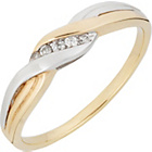 more details on 9ct 2 Coloured Gold Diamond Accent Fancy Ring.