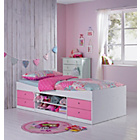 more details on Malibu Pink on White Cabin Bed with Bibby Mattress.