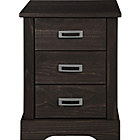 more details on Collection Mendoza Pine 3 Drawer Bedside Chest-Walnut Stain.