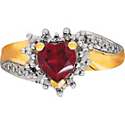 more details on 9ct Gold Created Ruby and Diamond Heart Ring.