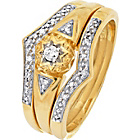 more details on 9ct Gold Diamond Bridal Set.