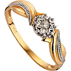 more details on 9ct Gold Diamond Solitaire Fancy Twist Ring.