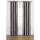 more details on Heart of House Ava Faux Silk Curtains 168x183cm - Dove Grey.