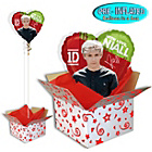 more details on One Direction Foil Balloon in a Box - Niall.