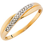 more details on 9ct Gold Diamond Crossover Ring.