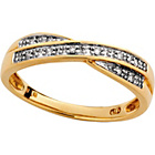 more details on 9ct Gold Diamond Accent Double Crossover Eternity Ring.
