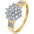 more details on 9ct Gold Diamond Cluster Dress Ring.