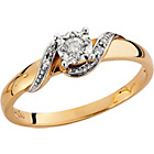 more details on 9ct Gold Diamond 15 Point Solitaire Fancy Twist Ring.