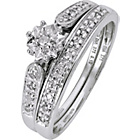 more details on 9ct White Gold Diamond Bridal Ring Set.