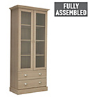 more details on Chelsea 2 Door Glass Display Cabinet - Oak Effect.