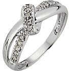 more details on 9ct White Gold 0.10ct Diamond Bow Fancy Ring.