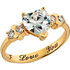 more details on 18ct Gold Plated Silver Cubic Zirconia 'I Love You' Ring.
