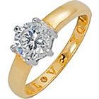 more details on 9ct Gold Cubic Zirconia 'I Love You' Solitaire Ring.