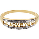 more details on 9ct Gold Diamond Set 'I Love You' Ring.