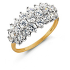 more details on 9ct Gold Cubic Zirconia Elongated Cluster Ring.