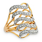 more details on 9ct Gold Plated Steling Silver Multi Crossover Ring.