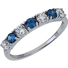 more details on Sterling Silver Cubic Zirconia Blue and White Eternity Ring.