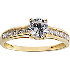 more details on 9ct Gold Solitaire Cubic Zirconia Shoulder Ring.