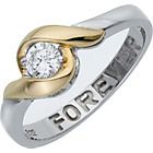 more details on Sterling Silver Cubic Zirconia 'Forever' Message Ring.