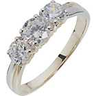 more details on 9ct Gold Cubic Zirconia Trilogy Ring.