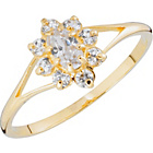 more details on 9ct Gold Cubic Zirconia Cluster Ring.