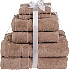 more details on HOME Zero Twist 6 Piece Towel Bale - Stone.