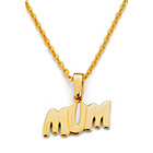 more details on 18ct Gold Plated Sterling Silver 'Mum' Pendant.