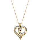 more details on 9ct Gold 0.25ct tw Diamond Heart Pendant.