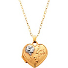 more details on 9ct Gold Embossed 'I Love You' Heart Locket Pendant.