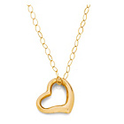 more details on 9ct Gold Floating Heart Pendant.