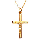 more details on 9ct Gold Crucifix Pendant in a Bible Presentation Box.