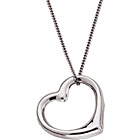 more details on 9ct White Gold Floating Heart Pendant.