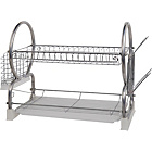 more details on HOME 2 Tier Dish Rack - Silver.