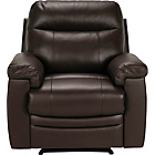 more details on Collection New Paolo Leather Recliner Chair - Chocolate.