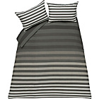 more details on Juno Stripe Grey Bedding Set - Double.