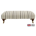 more details on Heart of House Sherbourne Striped Large Footstool - Natural.