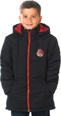 Angry Birds Boys' Black Puffa Jacket - 6-7 Years