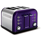 more details on Morphy Richards 242016 Accents Four Slice Toaster - Plum.