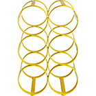 more details on Habitat Caden 6 Bottle Metal Wine Rack - Yellow.