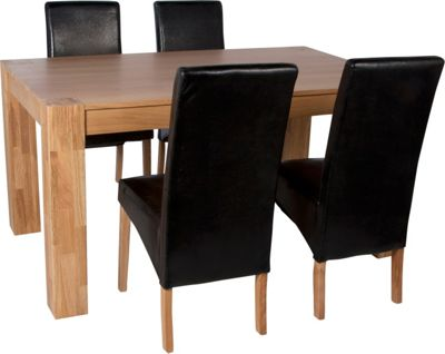 Buy Heart of House Alston Dining Table and 4 Chairs Oak  : 2377016RSETTMBampwid620amphei620 from www.argos.co.uk size 620 x 620 jpeg 28kB
