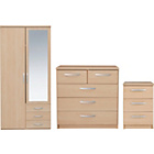 More Details On New Hallingford 3 Piece 2 Dr Wardrobe Package Light