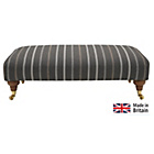 more details on Heart of House Sherbourne Striped Large Footstool - Charcoal