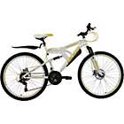 more details on Boss Whitegold 26 Inch Steel FS Mountain Bike - Ladies'.