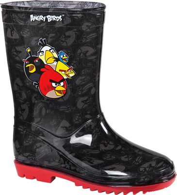 Angry Birds Boys' Black Wellies - Size 12