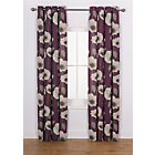more details on Elissia Poppy Unlined Curtains - 168 x 229cm - Plum.