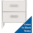 more details on New Capella 2 Drawer Bedside Chest - Soft White.